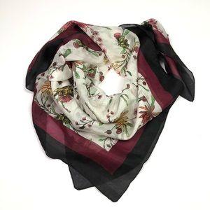 "Chan Luu 100% Silk Floral 30"" Square Scarf"